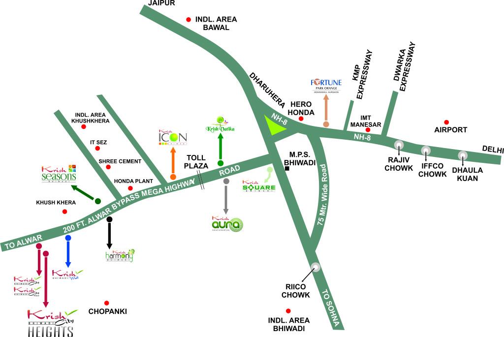Location Map - Krish City Heights