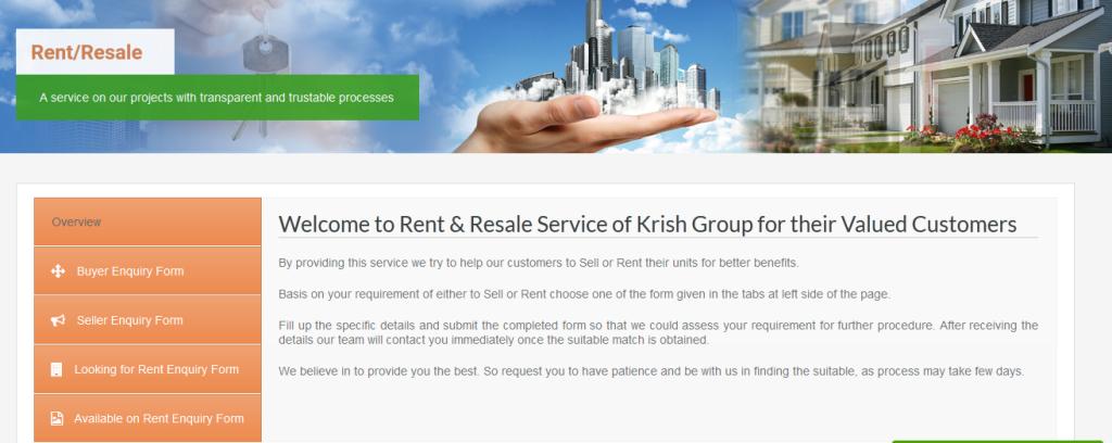 krish Group Rent Resale