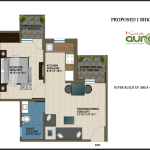 1 BHK , 600 sq ft ,Krish Aura