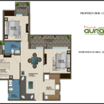 3 BHK , 1230 sq ft ,Krish Aura