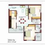 FloorPlan 2Bhk-1210 sqft - Krish Vatika -II