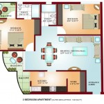 FloorPlan - 2Bhk-1345sqft - Krish Vatika - I