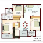 FloorPlan 3Bhk-1520sqft - Krish Vatika -II