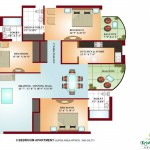 FloorPlan - 3Bhk-1665sqft - Krish Vatika - I