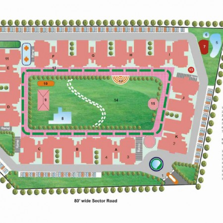 Site Plan - Krish Vatika