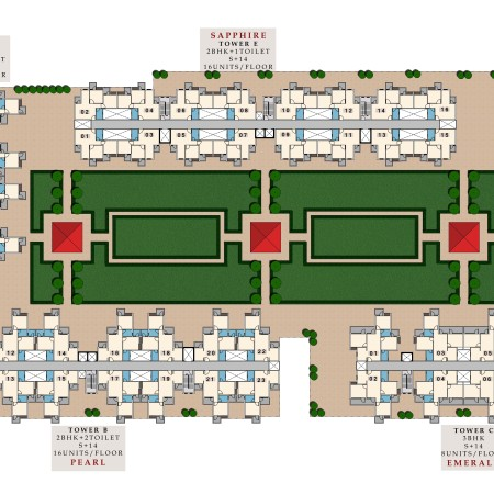 Site Plan of Krish Aura