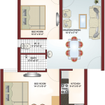 Floor Plan - Krish City - II - Daffodil