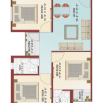 Floor Plan - Krish City - II - Wind Flower