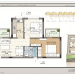 FloorPlan - 2BHK+1T - 820 - Type 1 - Krish Icon