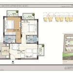 FloorPlan - 2BHK+2T - 980 - Krish Icon