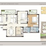 FloorPlan - 3BHK+2T - 1210 - Krish Icon